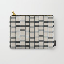 Stacks of Rectangles, Charcoal Gray on Cream Carry-All Pouch
