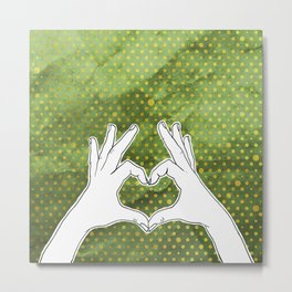 Hand sign heart Metal Print