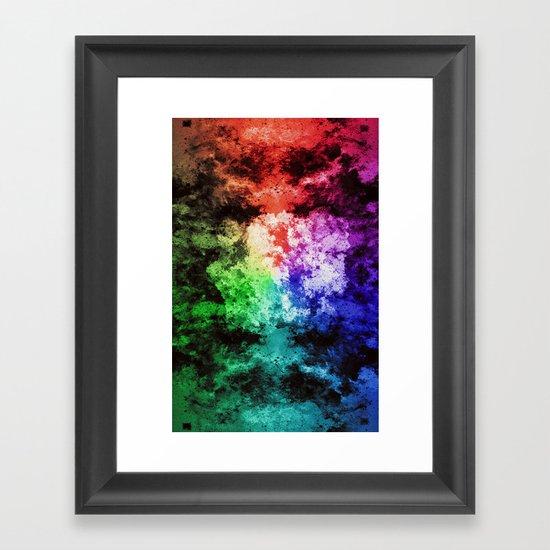 Inner Battle ~ Analog Zine Framed Art Print