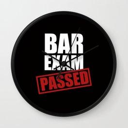 Bar Exam Passed Wall Clock