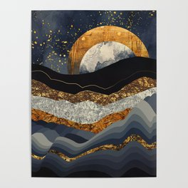 Metallic Mountains Poster