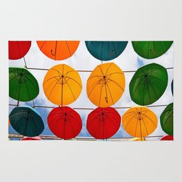 colorful umbrella Rug
