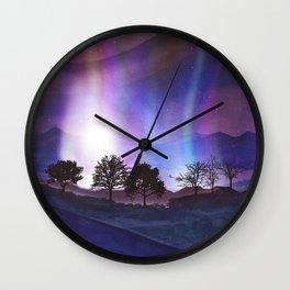 Lined Trees Wall Clock