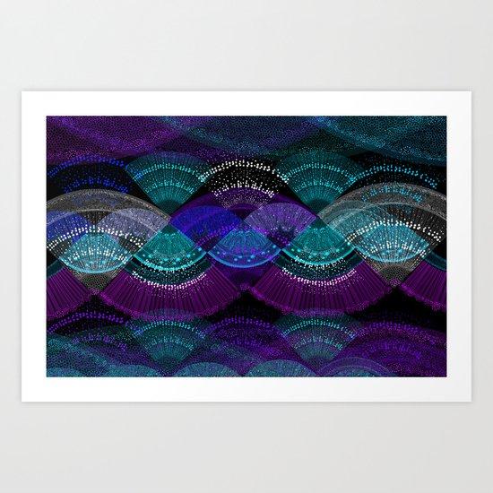 Bio Pattern Art Print