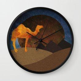 Camel, Desert and Pyramid Wall Clock