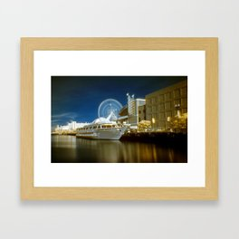 Infra Red Navy Pier 1 Framed Art Print