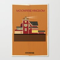 wes anderson Canvas Prints featuring Moonrise Kingdom Directed by Wes Anderson by federico babina