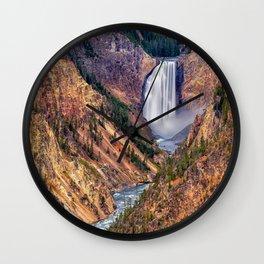 Lower Falls of the Yellowstone Wall Clock