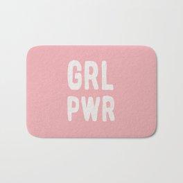 GRL PWR (pink) Bath Mat