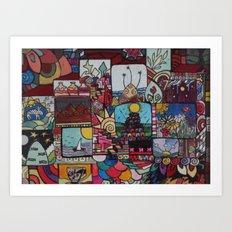 Square doodles Art Print