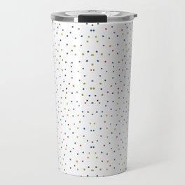Seamless colourful dots Travel Mug