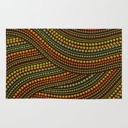 Dot Art Aboriginal Art #1 Rug