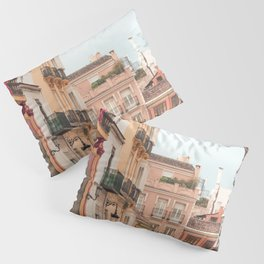 Mediterranean City - Houses and Street Pillow Sham