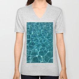 Blue water Unisex V-Neck