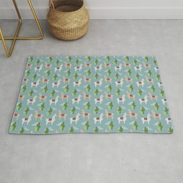 Cute Llamas Illustration Rug