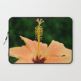 Peach Hibiscus Laptop Sleeve