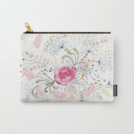 Rose-bouquet print Carry-All Pouch