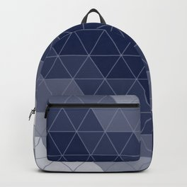 Navy Blue Triangles Backpack