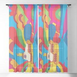 Yellow Submarine Sheer Curtain