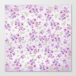 Little Purple and Pink Flowers Canvas Print