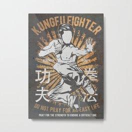 Kung Fu Master Fighter, Martial Arts Metal Print