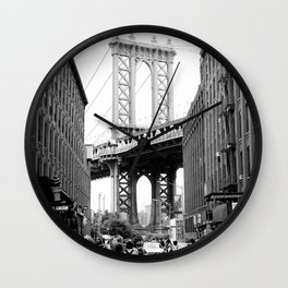New York in B&W Wall Clock