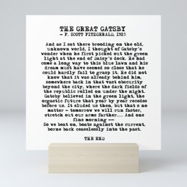 Ending of The Great Gatsby - Fitzgerald quote Mini Art Print