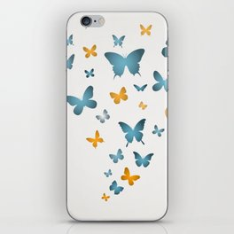 Butterfly Blue And Yellow Butterflies iPhone Skin