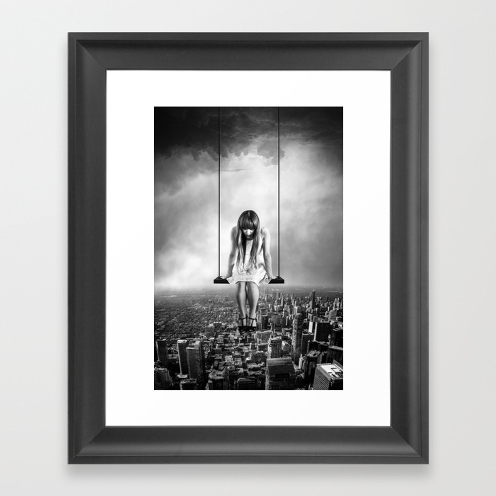 Girl Looking From Above Framed Art Print by Fbmovercrafts FRM6347200