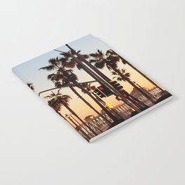 Huntington Beach Summer Sunset at the pier Notebook