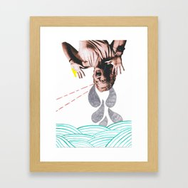 Woman Crying Print Framed Art Print