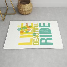 Life is a Beautiful Ride Rug