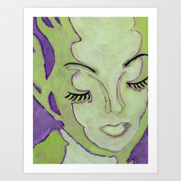 Mug Shot Green/Lares and Penates Series Art Print