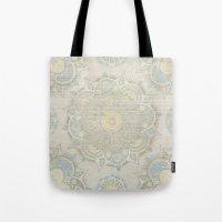 islam Tote Bags featuring Vintage Mandala by Mantra Mandala