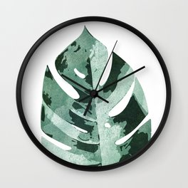Philodendron Leaf Wall Clock