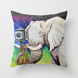 Elephant II Throw Pillow