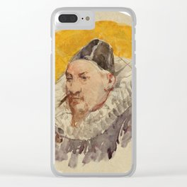 ANKER, ALBERT (1831 Ins 1910)   Portrait of a man with ruff. Clear iPhone Case