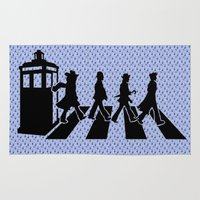 dr who Area & Throw Rugs featuring Dr Who 50th anniversary by Freak Shop | Freak Products