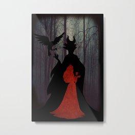 Maleficent & Aurora as One Metal Print