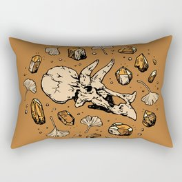 Triceratops Rocks! | Citrine Quartz Rectangular Pillow