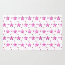 Fushcia Stars Rug