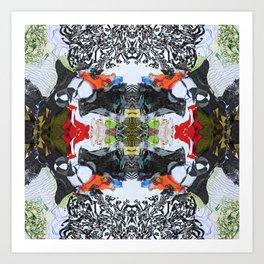 MANDALA PATTERN ABSTRACT ART  Colorful geometric abstract patterns by Michel Keck Art Print