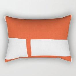 Blue and Red Art III Rectangular Pillow
