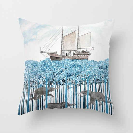 Sea of Trees Throw Pillow