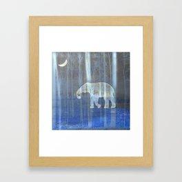 Moonlight with elephant Framed Art Print