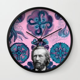 Trippy Haeckel Vibes Under the Sea Wall Clock