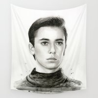 wesley bird Wall Tapestries featuring Wesley by Olechka