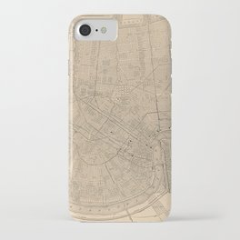 Vintage Map of New Orleans LA (1908) iPhone Case