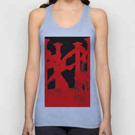 300 Red and Black Unisex Tank Top
