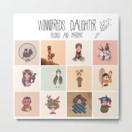 Winnifreds Daughter Musings & Merriment Metal Print
